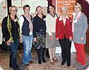 Die Emslandteilnehmerinnen mit der Bundesvorsitzenden Rita Waschbüsch