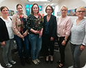 Dorothee Gepp mit den Beraterinnen