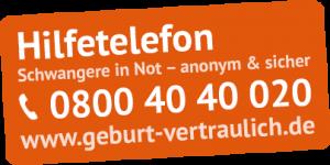 Hilfetelefon Schwangere in Not - anonym & sicher
